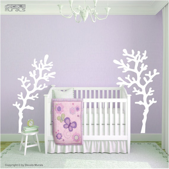Set of 2 large CORAL REEF BRANCHES Wall decals interior decor