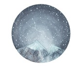 Constellation Art, fine art print-Taurus and the Himalayas