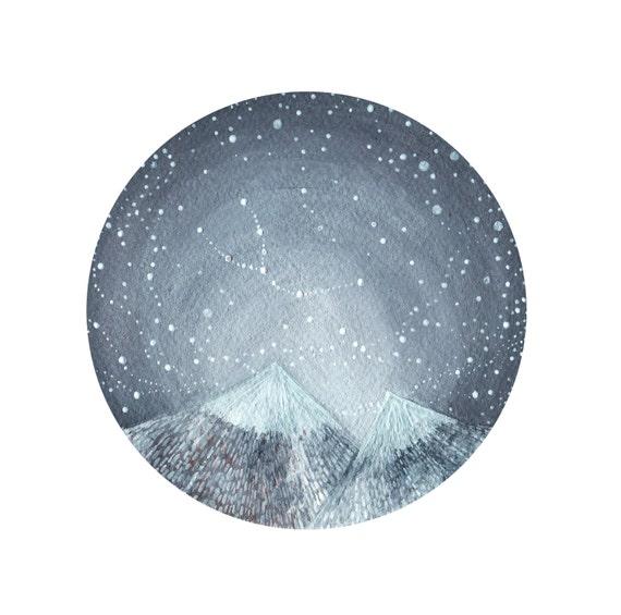 Taurus Constellation Art // fine art print // Taurus and the