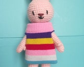 Amigurumi pattern PDF : Chaussette the bunny rabbit