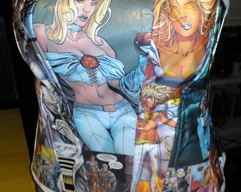 Comic Book Corset - Custom - Made to Order