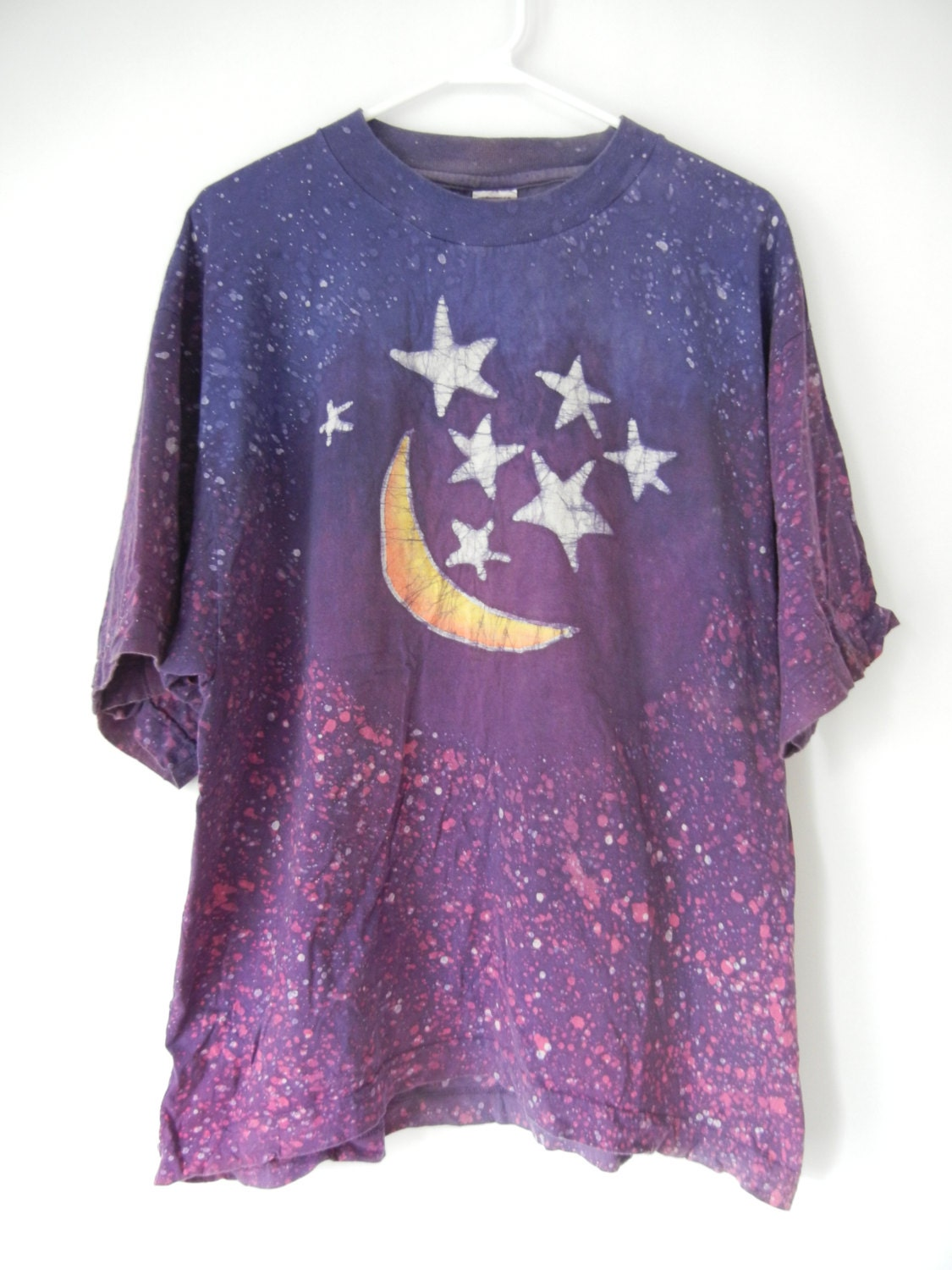 vintage star and moon t shirt size by littleraisinvintage on etsy. Black Bedroom Furniture Sets. Home Design Ideas