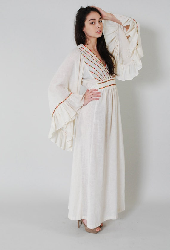 Reserved Vintage Bell Sleeve Hippie Dress 70s Boho Hippie