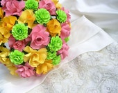 Wedding Bouquet - Paper Bouquet - Customize your Style and Colors - Made To Order