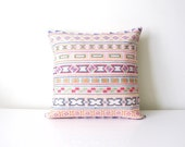 Chiang Mai pastel hand- stitched tribal cotton pillow cover