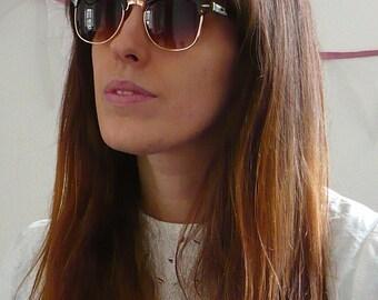 Vintage Deadstock Tort Clubmaster Sunglasses