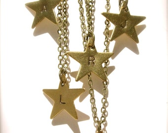 Initial Necklace Star Necklace Personalized Jewelry Star Charm Necklace Monogram Necklace Personalized Necklace Star Jewelry