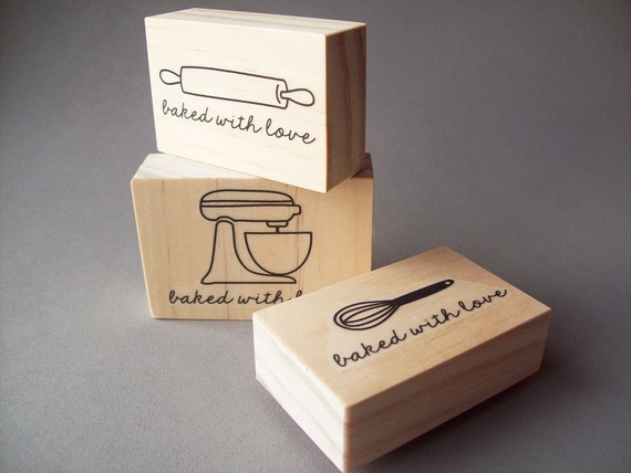 Baked With Love Stamp Stand Up Mixer Whisk Or By Stampcouture