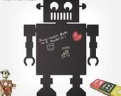 Retro Robot Chalkboard Wall Decals - Children Wall Sticker - 0033