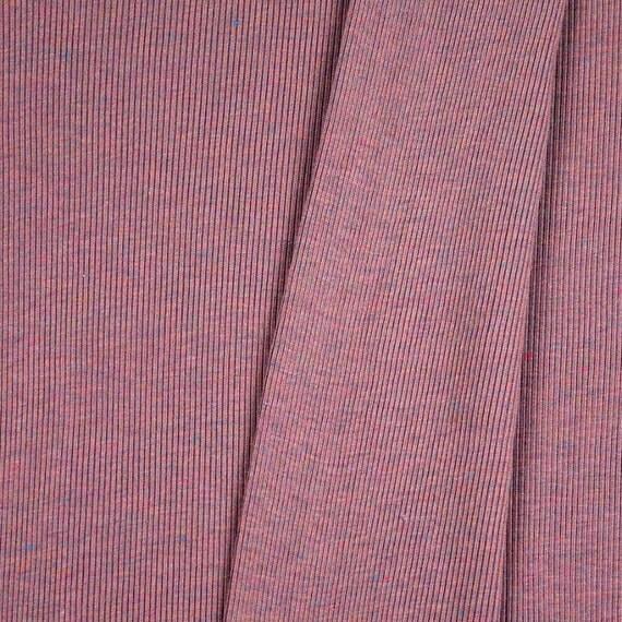 Circular Knitting Fabric : Vintage circular rib knit fabric heather pink by