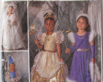 Girl's Costume Pattern - Princess, Fairy, Bride, Witch for Dress Up Or Halloween - Simplicity 8424 - Sizes 3-4-5-6-7-8, Breast 22 - 27