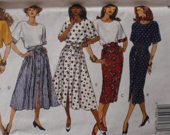Misses/Misses Petite Pullover Blouson Dress Sewing Pattern - Butterick 6785 - Sizes 12-14-16, Bust 34 - 38, Uncut