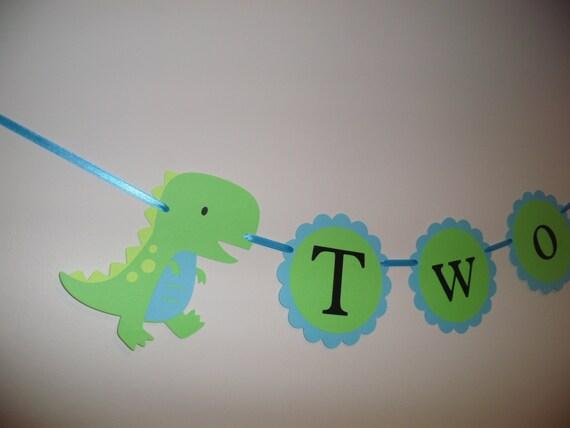 two dinosaur banner baby shower decor dinosaur birthday photo prop