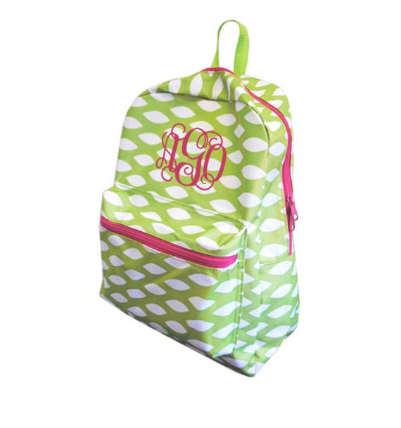 2 DAY SHIPPING Medium Personalized Monogrammed Backpack
