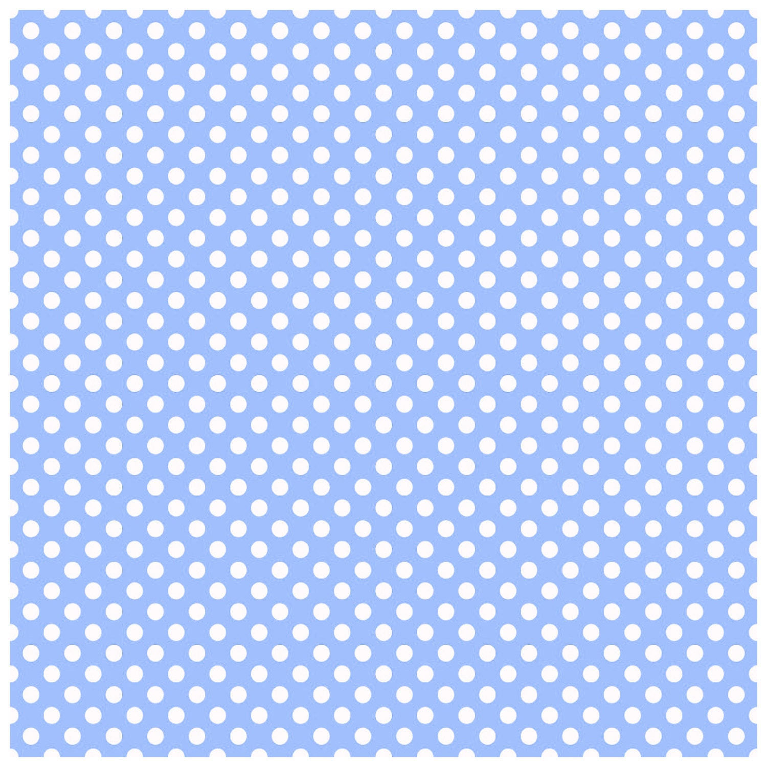 Baby Blue Polka Dot Gift Wrap 2 Sheets Of 70x50cm Wrapping