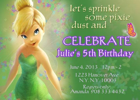 tinkerbell birthday invitation templates