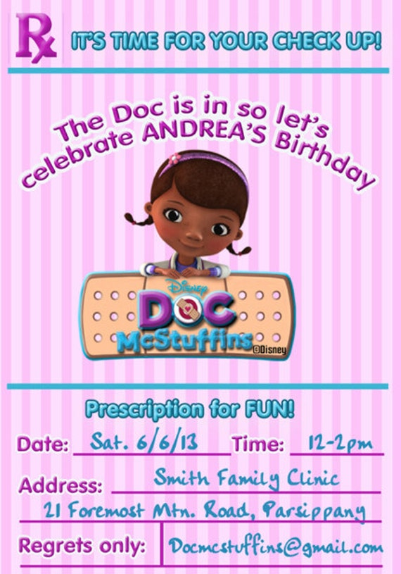 Doc Mcstuffins Party Invitations for adorable invitation sample