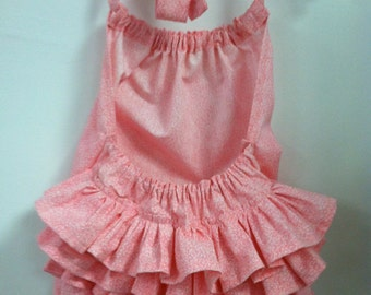 Pink Ruffled Sunsuit- Newborn to 2T