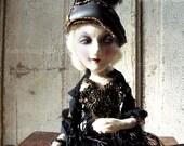 RESERVEDK: Art Doll OOAK - Gothic Boudoir Doll