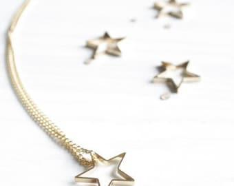 Minimalist Geometric Gold/Silver Star Necklace