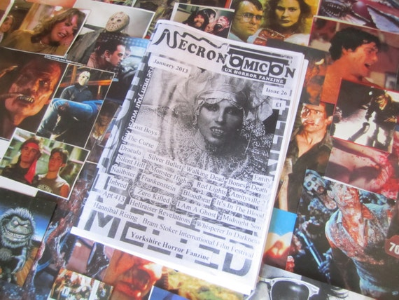 NECRONOMICON 26 UK horror fanzine zine January 2013 retro 80's cheese fanboy geek reviews