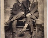 Old Fashioned Vintage Photograph , photo,Men Friends, Digital Download,