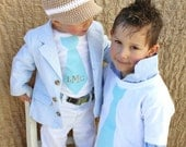Back to School Children Clothing Tie Tshirt Ring Bearer Gift.  1 Big Brother Non-Personalized Tie Shirt. Short Sleeve. Wedding