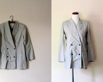 FREE usa shipping! Vintage Y's YOHJI YAMAMOTO / 80's Light weight Blazer Jacket / Medium