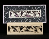 bunny row rubber stamp