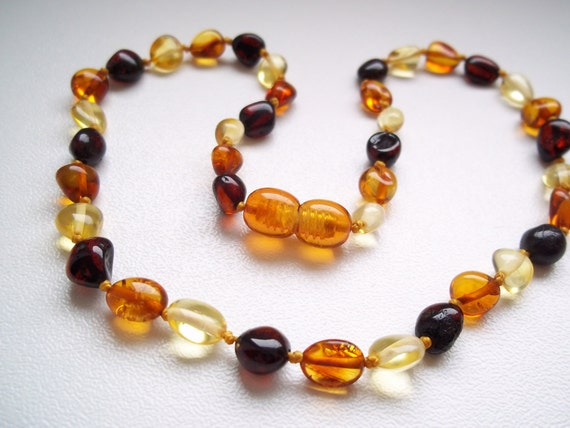 Multicolor   Baltic  AMBER  BABY TEETHING  Necklace.