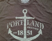 Portland Anchor - Cotton Poly Blend Shirt - Unisex S M L XL