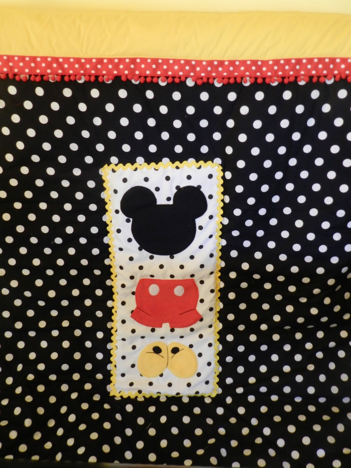 Mickey Mouse Crib Toddler Bed Quilt