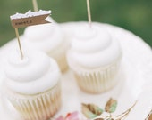 Custom Lace Cupcake Toppers, Set of 24