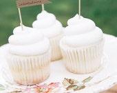 Custom Flag Cupcake Toppers, Set of 24