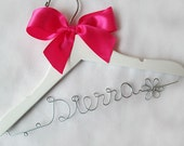 Personalized Childre Hanger with Satin Bow Decoration - Flower Girl Name Hanger, Birthday Gift, Baby Shower Gift, Newborn Gift