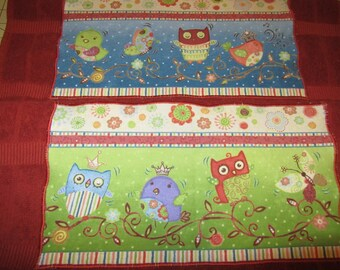 2 OWL TOWELS The King and Queen of Winged Things that Sing