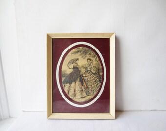 Vintage Antique Victorian Illustration - Two Victorian Women - Genre Scene
