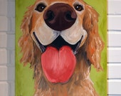Pet Portrait Commissioned Painting 16x20 Art Original Painting on Canvas