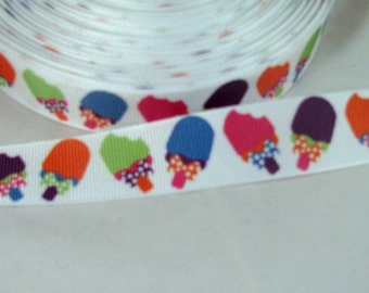 Colorful Summer Popsicle Ribbon 7/8""