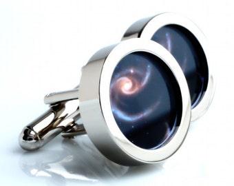 Space Cufflinks Astronomy Cufflinks Spiral Galaxy Cufflinks Gift for Men Wear the Galaxy on Your Sleeve PC530