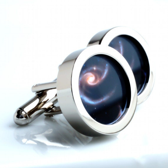Space Cufflinks Astronomy Cufflinks Spiral Galaxy Cufflinks Gift for Men Wear the Galaxy on Your Sleeve PC530