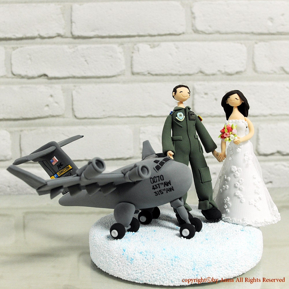Air Force Pilot Cake Topper