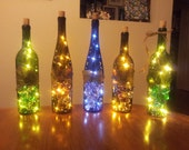 Upcycled Wine Bottle Lamp, Great Night Light, Accent Piece, Unique Gift