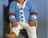 Digital PDF Download, Coats & Clark, Baby Talk,  Knit and Crochet Vintage Patterns