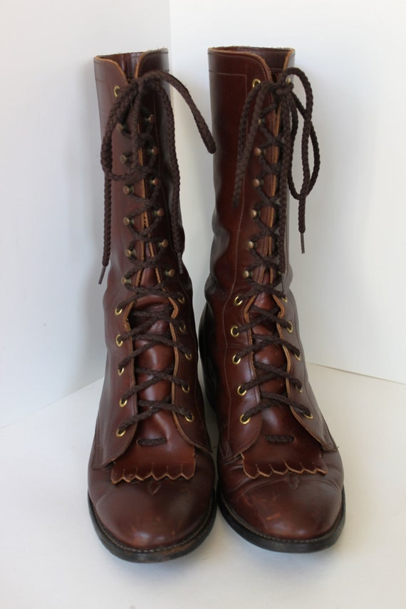 Vintage tony lama packer boots mens brown size by pixiegoes2market