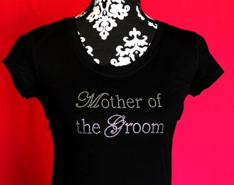 Mother of the Groom Chic Rhinestone Iron On Heat Transfer - DIY