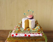 Felt Food  Cheese and Fig Play Food or Pincushion