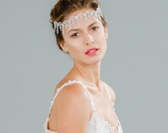 Bridal Crystal Rhinestone Art Deco Headband