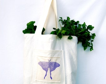 SALE Market Tote Bag - Organic Cotton Hemp - Grocery - Cloth Bag -  Farmers Market - Eco Friendly - Ready to Ship