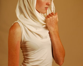 Tunic Length Shirt - Sleeveless - Cowl - Hoodie - Several Colors - Eco Friendly -  Organic Clothing